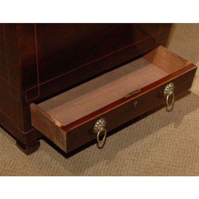 19th Century Inlaid Federal Mahogany Inlaid Wine Cellarette For Sale In San Francisco - Image 6 of 7