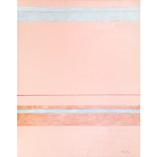 "Nick Wallis ""Parallels on Peach"" Painting For Sale"