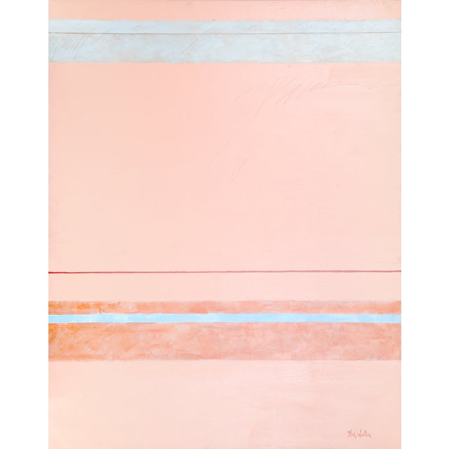 """Nick Wallis """"Parallels on Peach"""" Painting For Sale"""