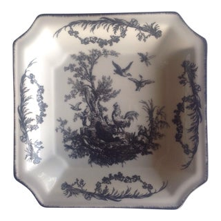 Black and White French Countryside Scene Plate For Sale