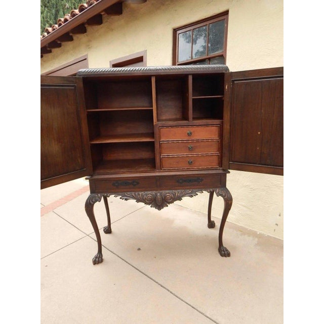 1920s Spanish Colonial Heraldic Theme Storage Cabinet For Sale In Richmond - Image 6 of 11
