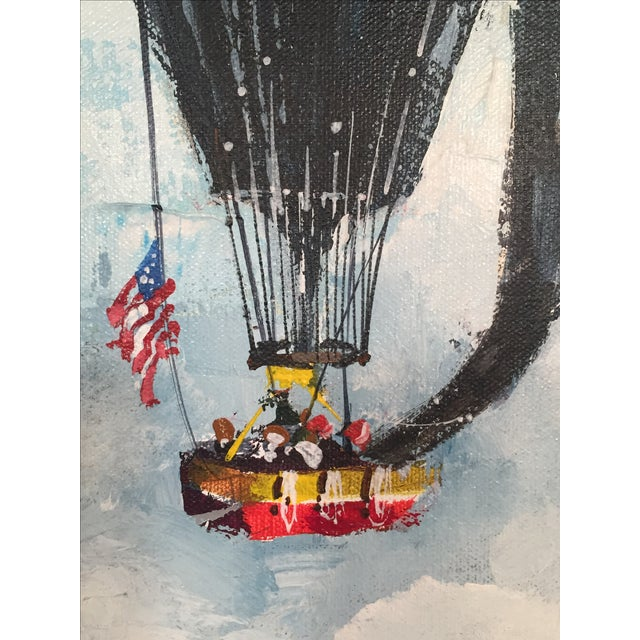 Americana 1978 Across the Sea to Glory, Oil on Canvas Painting For Sale - Image 3 of 8