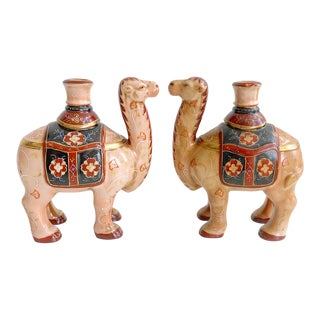 Pair of Vintage Camel Candle Holders