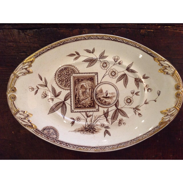 Aesthetic Movement English Aesthetic Movement Oval Casserole With Stand For Sale - Image 3 of 8