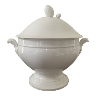 Antique French Lidded Porcelain Ironstone Tureen For Sale