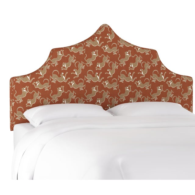 Leopard Run Burnt Orange Full Headboard For Sale