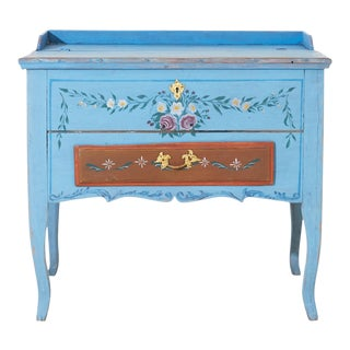 Gustavian Swedish Blue Writing Desk For Sale