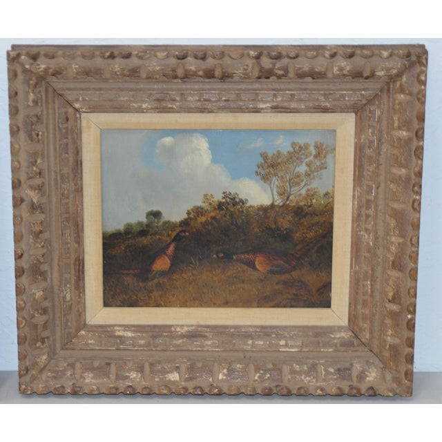 Impressionism Pair of Early 20th C. Pheasant Hunt Oil Paintings For Sale - Image 3 of 11