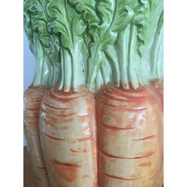 1970s Vintage Fitz and Floyd Carrot Pitcher For Sale - Image 5 of 8