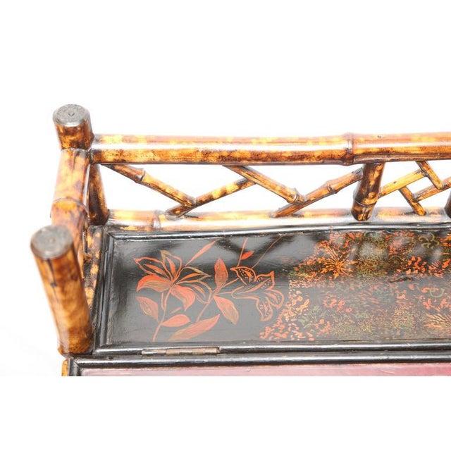 1900 - 1909 1900s Boho Chic Bamboo Davenport Desk For Sale - Image 5 of 8