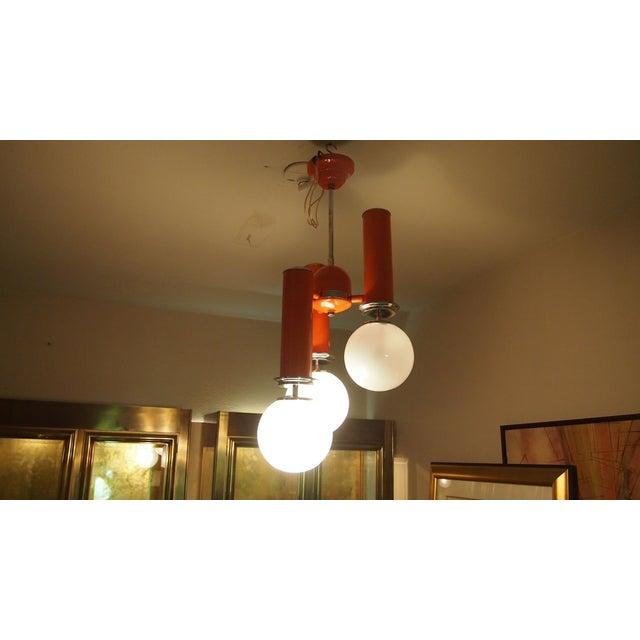 Italian Mid-century Light Fixture - Image 2 of 2