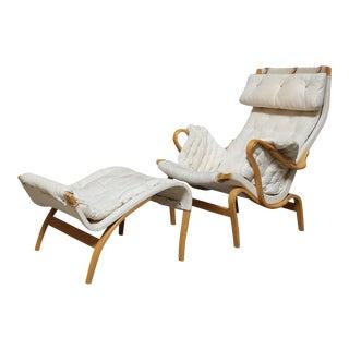 Dux Bruno Mathsson Pernilla Lounge Chair and Ottoman