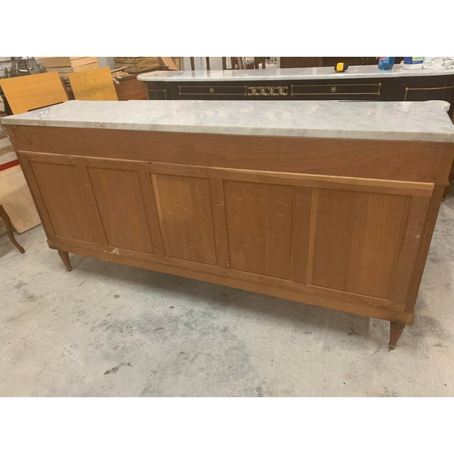 1910s French Louis XVI Antique Mahogany Sideboard or Buffet For Sale - Image 13 of 13