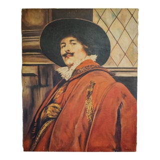 1949 Portrait Oil Painting of a Buccaneer For Sale