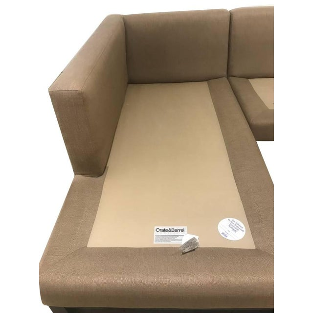 Textile Crate & Barrel Sectional Sofa For Sale - Image 7 of 11
