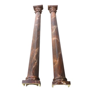 1980s Vintage Wall Columns - a Pair For Sale