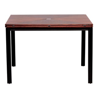 Tecno of Italy Square Rosewood Envelope T92 Table For Sale