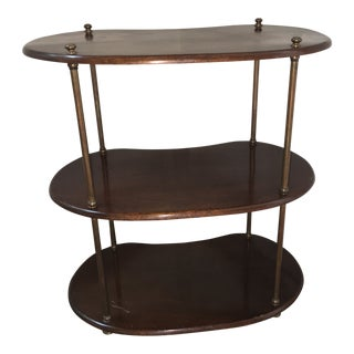 Regency Style Wooden Kidney Shaped Serving Stand For Sale
