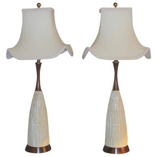 1960s Art Deco Style Lamps - a Pair For Sale