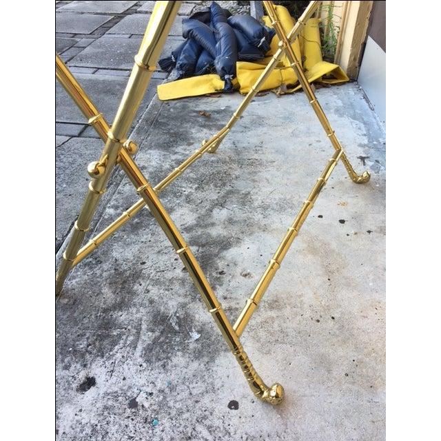 Contemporary Brass Bar Table - Image 8 of 8