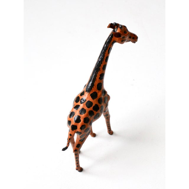 Vintage Leather Giraffe For Sale - Image 4 of 10