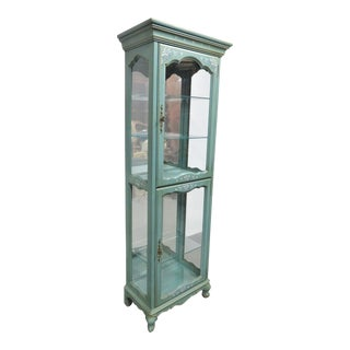 Jasper Cabinet Co . French Paint Decorated Curio Cabinet For Sale