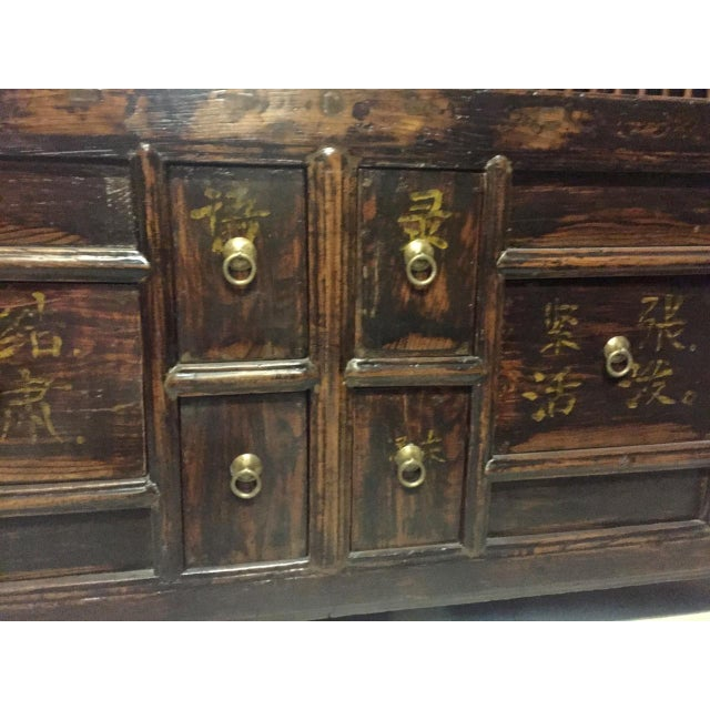 Antique Solid Wood Chest of Drawers For Sale In Los Angeles - Image 6 of 11