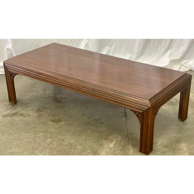 Chinoiserie Vintage Mahogany Lane Altavista Chippendale Coffee Table For Sale - Image 3 of 9