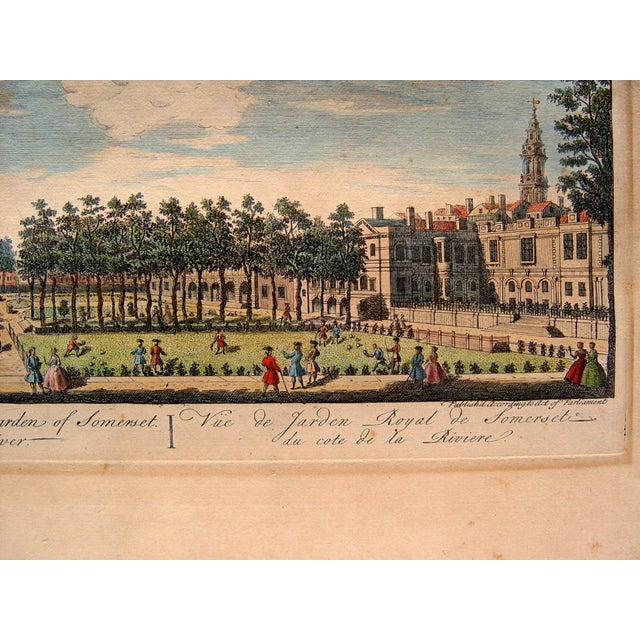 French Royal Gardens of Somerset, 1748 For Sale - Image 3 of 4