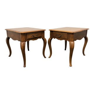 Ethan Allen French Country End Side Tables - Pair For Sale