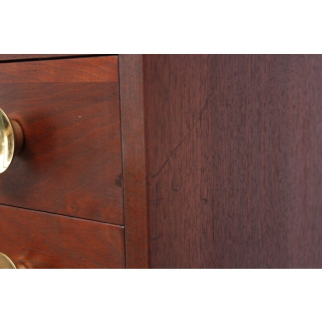 Mid-Century Modern Midcentury Walnut and Brass Gentleman's Chest after Paul McCobb For Sale - Image 3 of 9