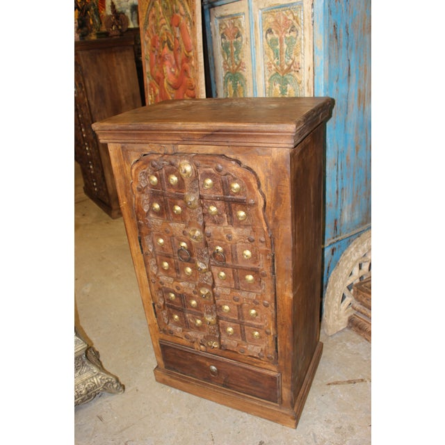 Antique Indian Doors Small Cabinet For Sale - Image 4 of 7 - Antique Indian Doors Small Cabinet Chairish