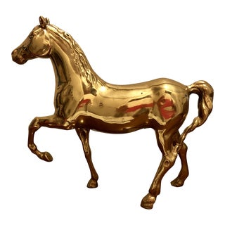 Mid Century Brass Horse Figurine For Sale