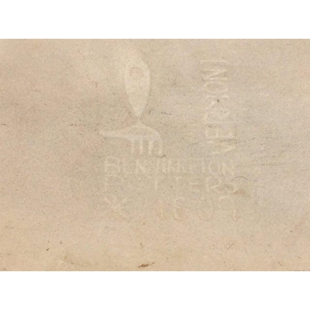 Ceramic Mid-Century Modern Bennington Potters Dove Platter or Tray For Sale - Image 7 of 11