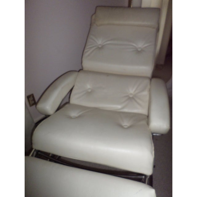 Vintage 1960s Lama Chrome Lounge Massage Chair For Sale In Boston - Image 6 of 7