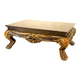 20th Century Chinese Carved and Lacquered Coffee Table For Sale
