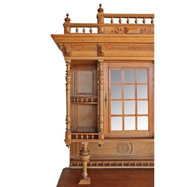 Antique Ornate Carved Oak Buffet - Image 5 of 5