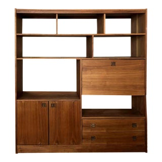1970s Mid Century Modern Wall Unit Room Divider For Sale