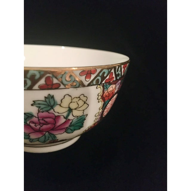 Mid 20th Century Hand Painted Chinoiserie Bowl For Sale - Image 5 of 9