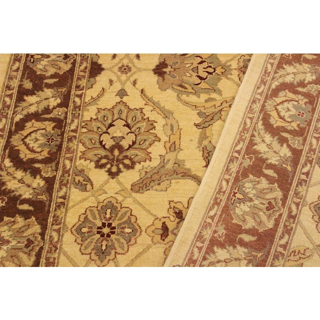 Textile Kafkaz Peshawar Keeley Ivory/Brown Hand-Knotted Rug - 5'0 X 7'0 For Sale - Image 7 of 8