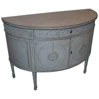 19th Century Carved Demilune Buffet