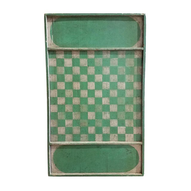 Carnival Late 19th Century Vintage Painted American Folk Art Game Board For Sale - Image 3 of 3