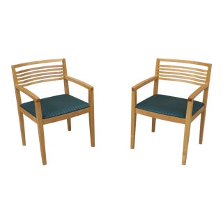 1990 Authentic Knoll Studio Ricchio Armchairs - a Pair For Sale