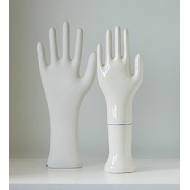 1940s Vintage Porcelain White Glove Molds - a Pair For Sale In Palm Springs - Image 6 of 6