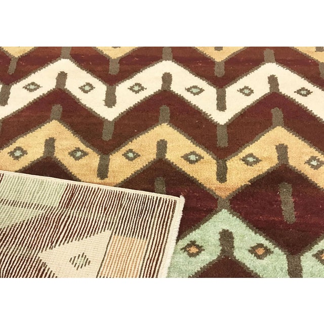 """Contemporary Turkish Nomadic Long Pile Tulu Rug - 4'9"""" X 6'4"""" For Sale - Image 3 of 3"""