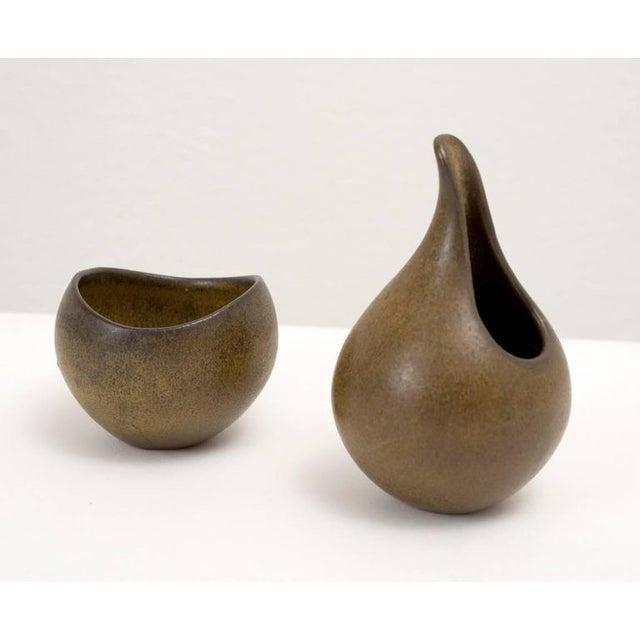Danish Modern Ceramic Sugar and Creamer - Image 2 of 4