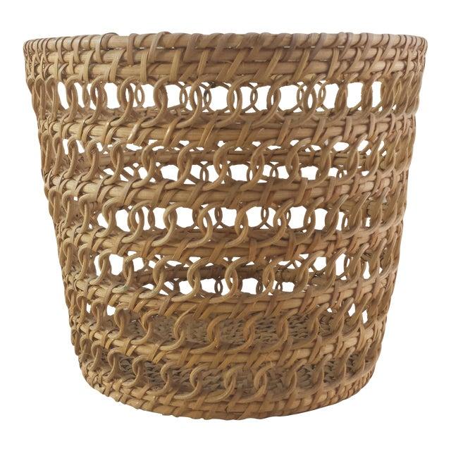 Bamboo Woven Basket - Image 1 of 6