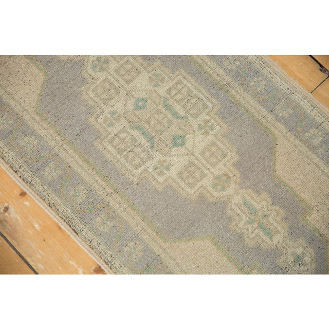 "Boho Chic Vintage Distressed Oushak Rug Mat Runner - 1'9"" X 3'4"" For Sale - Image 3 of 7"