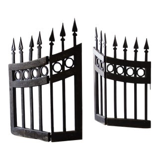 19th Century Wood Stable Gates - a Pair For Sale