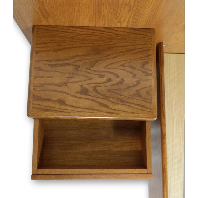 Hand Crafted Mid-Century Danish Inspired Floating Platform Bed & Nightstands - King For Sale - Image 9 of 13